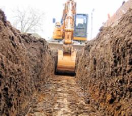 creusement d'une tranchée